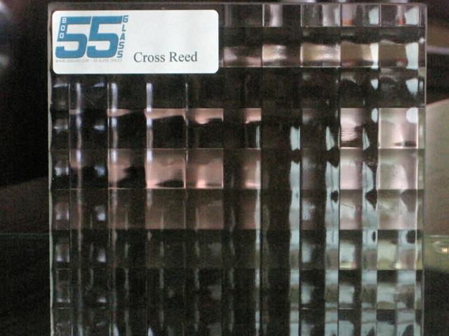 55 Glass Cross Reed Glass